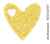 gold glitter heart isolated... | Shutterstock .eps vector #531513757