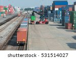 cargo train platform with... | Shutterstock . vector #531514027