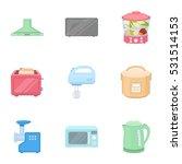 household appliances set icons... | Shutterstock .eps vector #531514153