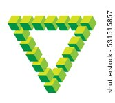 isometric triangle green squares   Shutterstock .eps vector #531515857