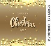 merry christmas lettering.... | Shutterstock .eps vector #531520603