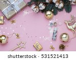 light pink christmas  new year... | Shutterstock . vector #531521413