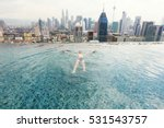 vacation in kuala lumpur. young ... | Shutterstock . vector #531543757