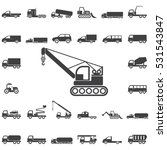 crane icon. transport icons... | Shutterstock .eps vector #531543847