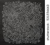 cartoon cute doodles hand drawn ... | Shutterstock .eps vector #531556663