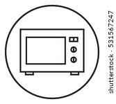 microwave oven linear icon. | Shutterstock .eps vector #531567247