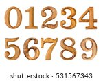 number 0 9. made from wood... | Shutterstock . vector #531567343