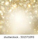 christmas glowing golden... | Shutterstock . vector #531571093