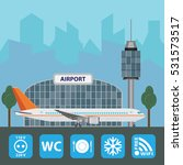 airport with infographic...   Shutterstock .eps vector #531573517