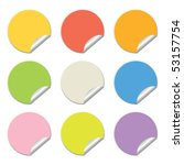round stickers in different... | Shutterstock .eps vector #53157754