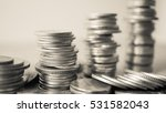 rows of coins for finance and... | Shutterstock . vector #531582043
