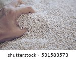 blurry of hand grab on nylon... | Shutterstock . vector #531583573