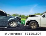car crash accident on street ... | Shutterstock . vector #531601807