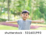 little boy in the nature park. | Shutterstock . vector #531601993