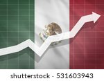 white arrow growth up on the... | Shutterstock . vector #531603943
