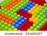 plastic toy blocks background | Shutterstock . vector #531604237