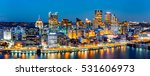pittsburgh downtown panorama at ... | Shutterstock . vector #531606973