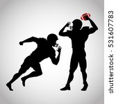 player of american football... | Shutterstock .eps vector #531607783