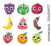 fruit character design | Shutterstock .eps vector #531620977