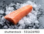 fresh salmon   | Shutterstock . vector #531626983