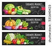 vegetables healthy food banners ... | Shutterstock .eps vector #531640423