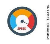 loading speed gauge   Shutterstock .eps vector #531655783