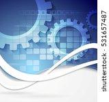 geometric gears technology wavy ... | Shutterstock .eps vector #531657487