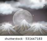 nature scene with fullmoon... | Shutterstock .eps vector #531667183