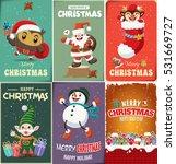 vintage christmas poster design ... | Shutterstock .eps vector #531669727