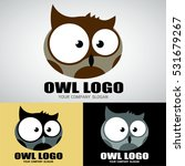 owl logo design for owl cafe ... | Shutterstock .eps vector #531679267