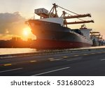 truck transport container on... | Shutterstock . vector #531680023