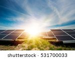solar panel  photovoltaic ... | Shutterstock . vector #531700033