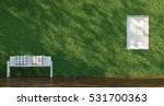green wall   white chair 3d... | Shutterstock . vector #531700363