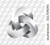 triple mobius loop impossible...   Shutterstock .eps vector #531709093