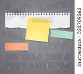paper tear and sticky note with ... | Shutterstock .eps vector #531709363