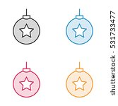 christmas ball icon dotted style | Shutterstock .eps vector #531733477