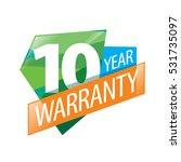 vector logo 10 years warranty | Shutterstock .eps vector #531735097