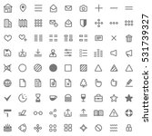 grey web icon set | Shutterstock .eps vector #531739327