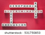 discrimination  xenophobia ... | Shutterstock . vector #531750853