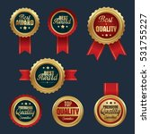 collection of gold badges top...