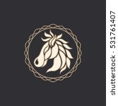 horse logo vector icon design | Shutterstock .eps vector #531761407