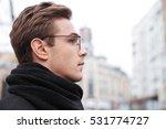 business man in glasses in... | Shutterstock . vector #531774727