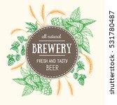 design template for beer pub.... | Shutterstock .eps vector #531780487