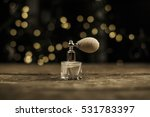 bottle of woman perfume   Shutterstock . vector #531783397
