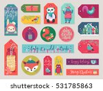 christmas gift tags set  hand... | Shutterstock .eps vector #531785863