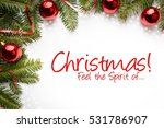 christmas decorations with... | Shutterstock . vector #531786907