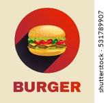 burger icon with juicy beef ...   Shutterstock . vector #531789907
