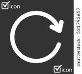 ciircular arrow sign vector... | Shutterstock .eps vector #531793657