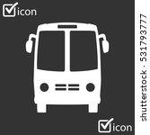 bus icon. schoolbus simbol. | Shutterstock .eps vector #531793777
