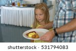 daddy puts snacks on the plate...   Shutterstock . vector #531794083